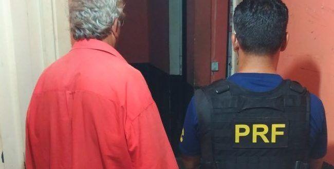 Foragido da justiça por matar a própria filha é preso pela PRF em Alvorada do Norte
