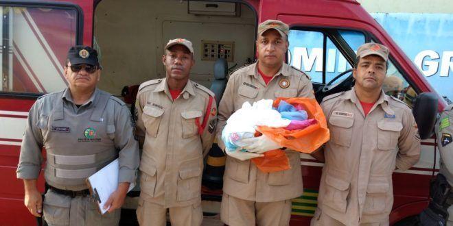 Corpo de Bombeiros Militar resgata bebê encontrado no lixo em Valparaíso