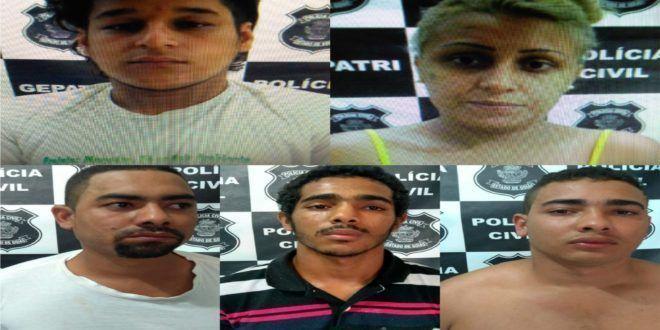 """Integrantes da denominada """"Família do Tráfico"""" são presos durante desdobramento da """"Operação Maio 10"""" na cidade de Uruaçu"""