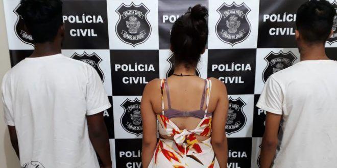 Menores são apreendidos com arma, droga e motocicleta roubada em Nova Iguaçu de Goiás