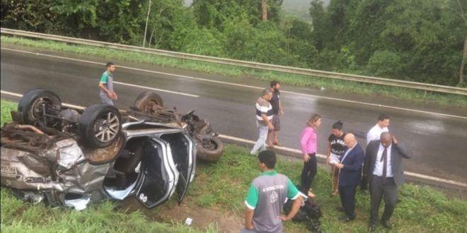 DEPUTADO FEDERAL ELEITO EM 2018 SOFRE ACIDENTE NA BR 060